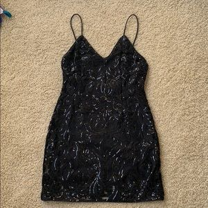 TOBI Black Sequin Dress